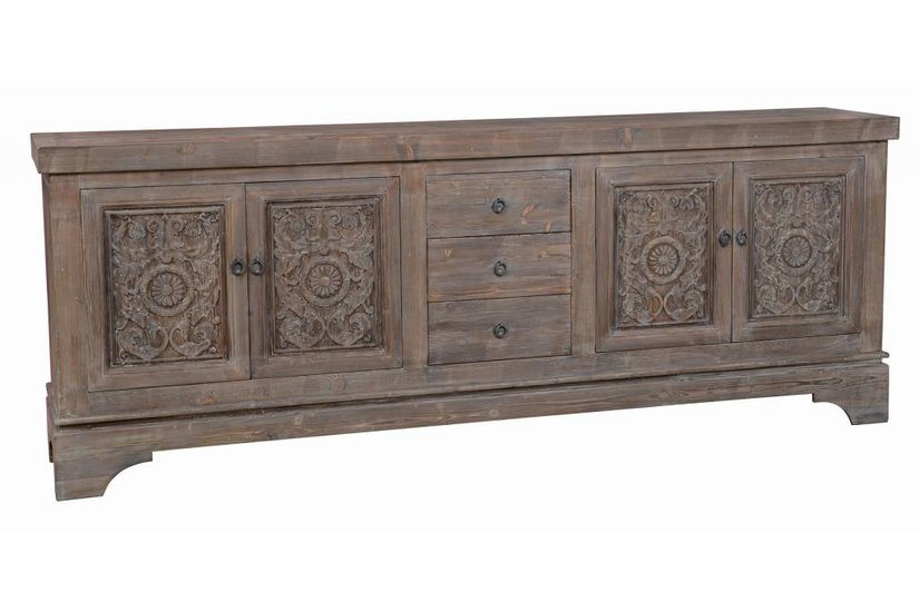 Amita Mocha Sideboard - 4 door 3 drawer
