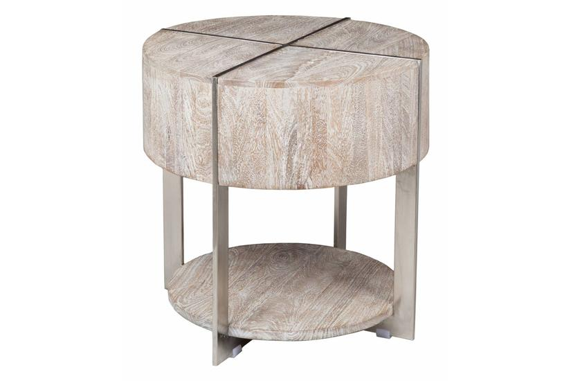 Desmond Round End Table - Grey