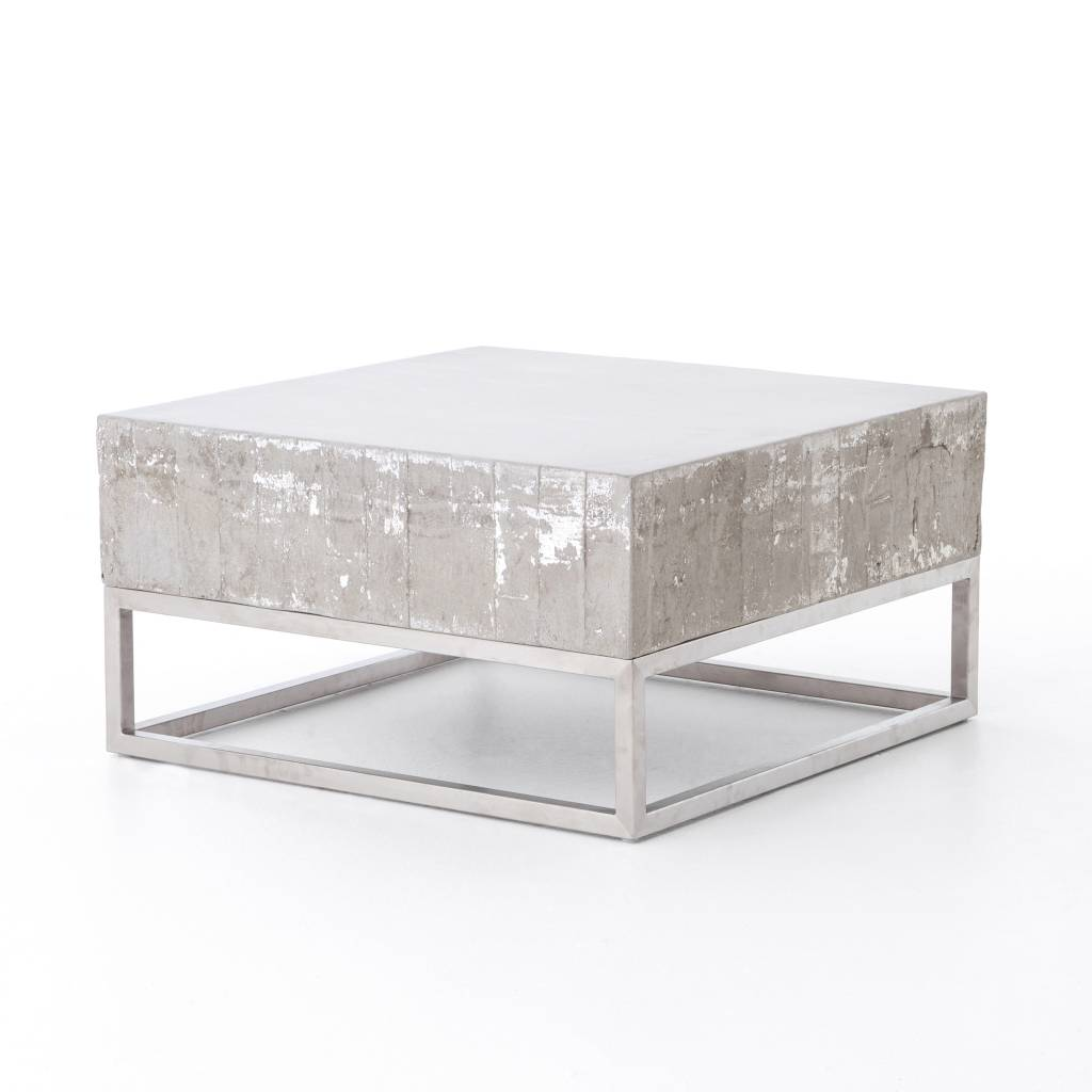 Concrete & Chrome Coffee Table