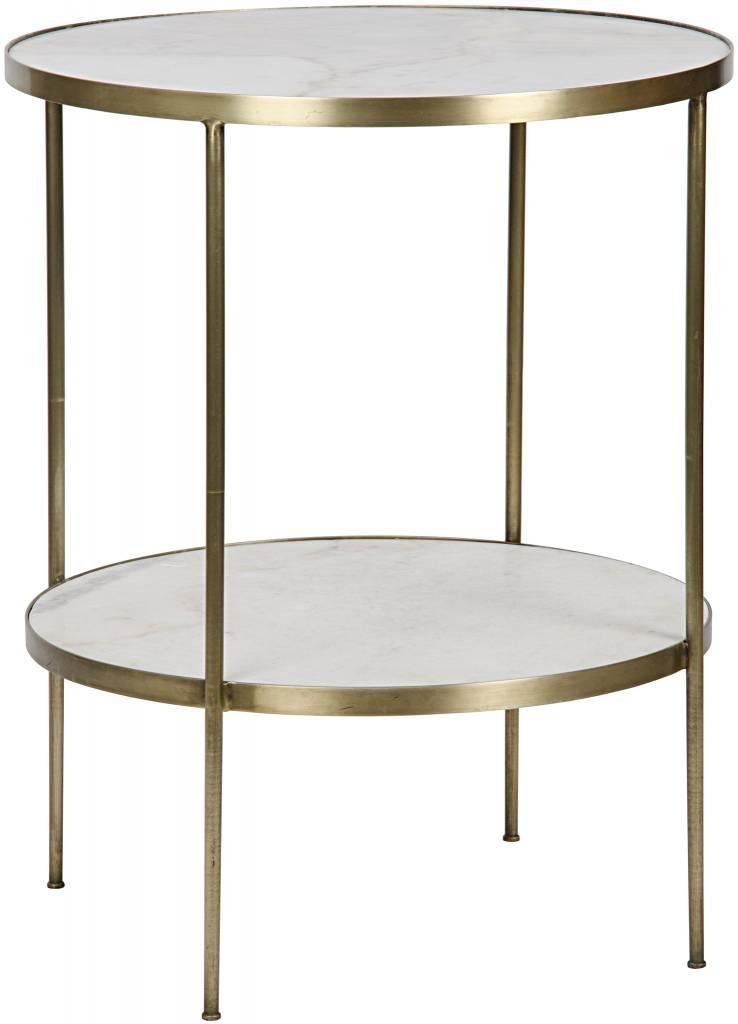 Rivoli Side Table - Antique Brass