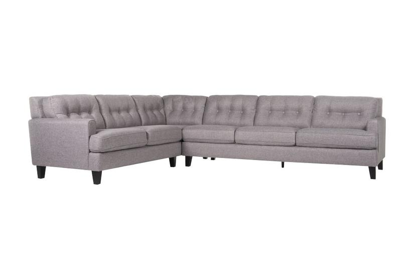 Bates L Sectional - Pewter