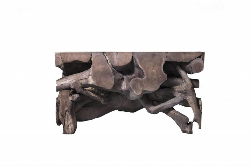 Teak Root Small Coffee Table - Grey