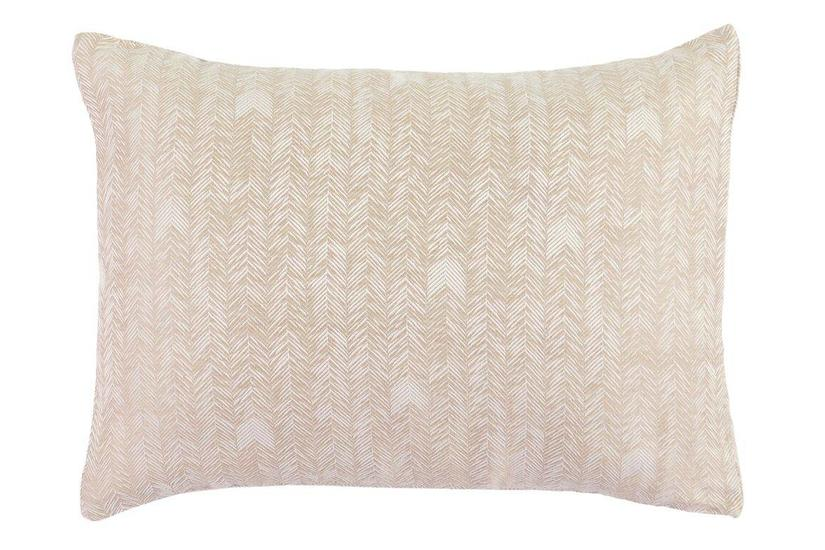 HERRINGBONE NATURAL STAND SHAM