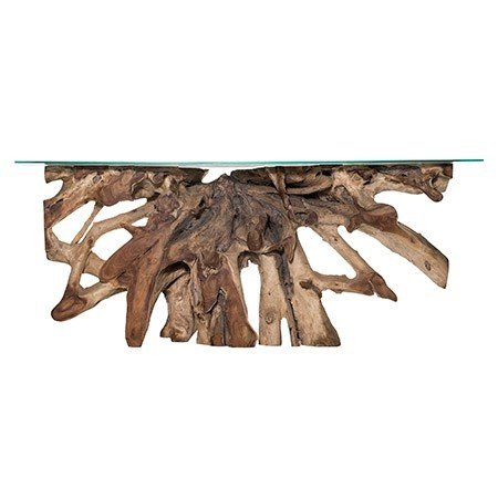 TEAK ROOT SM CON NAT W/GLASS