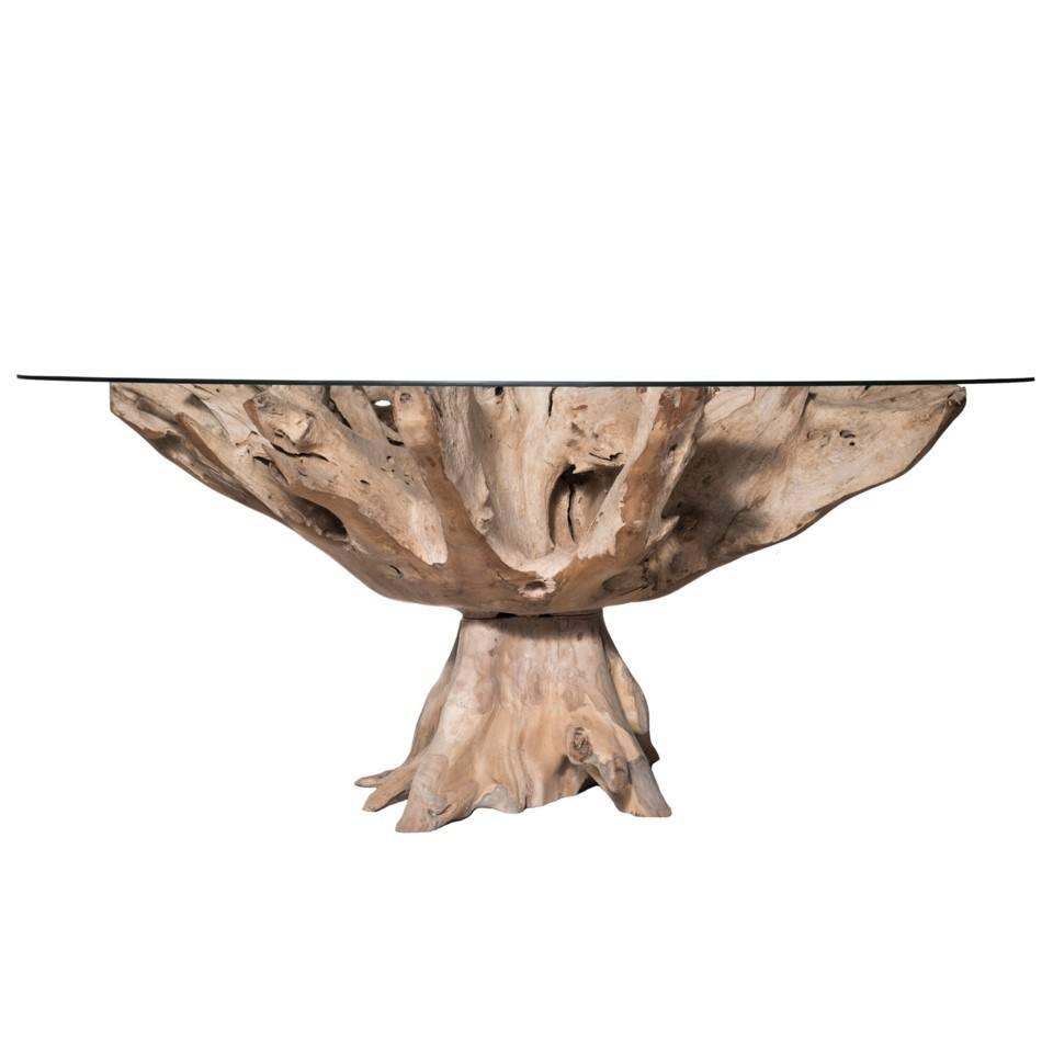 TEAK ROOT LG DINING TABLE NAT
