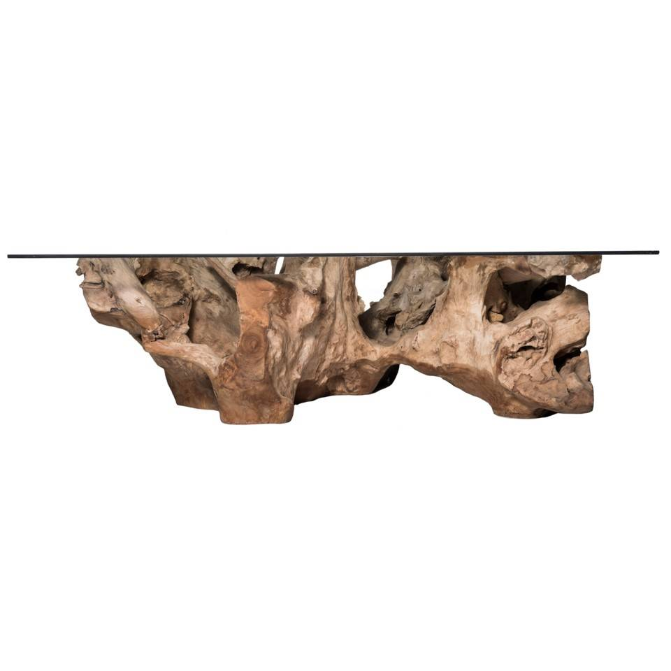TEAK ROOT LG COFFEE TABLE NAT