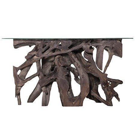 TEAK ROOT LG CON GREY GLASS