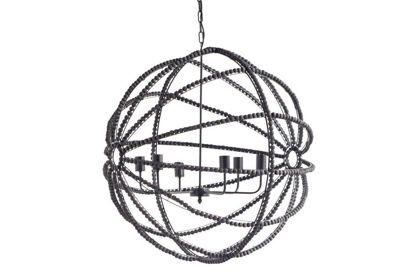 AVA BLACK ORB CHANDELIER