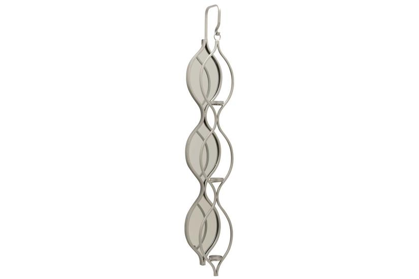 TOLLY WALL CANDLE HOLDER SILVER