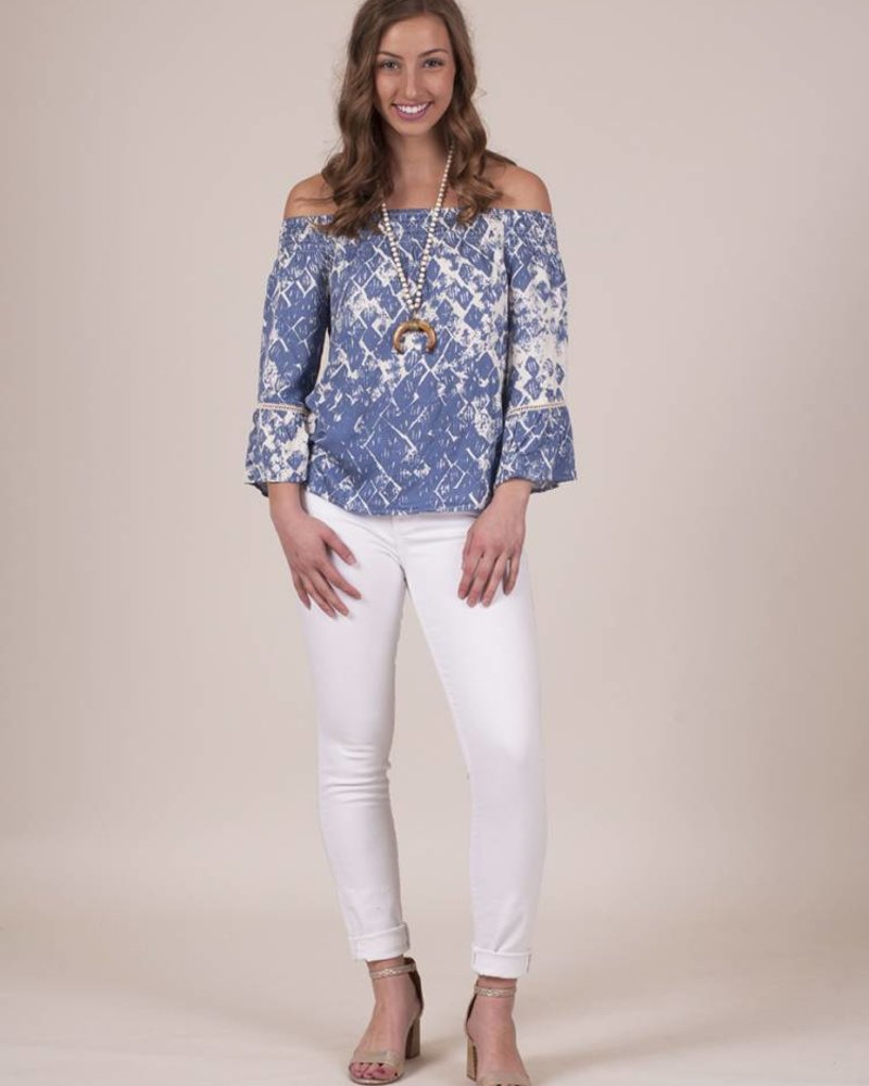 Bridget Printed OTS Top