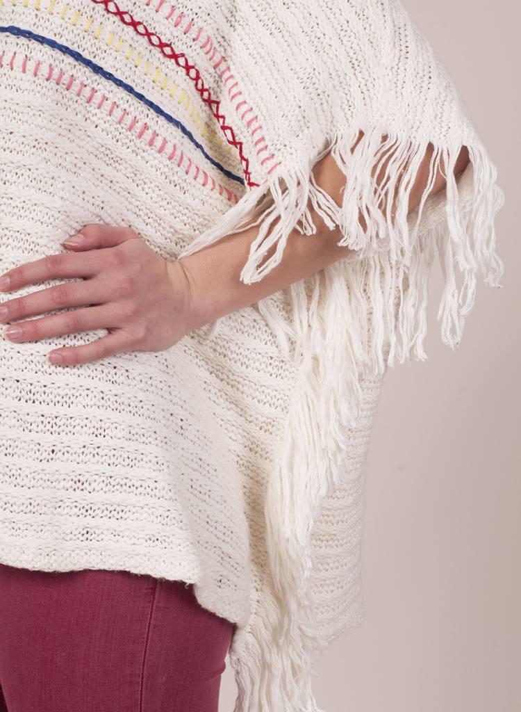 Lalla Poncho Sweater w/ Fringe