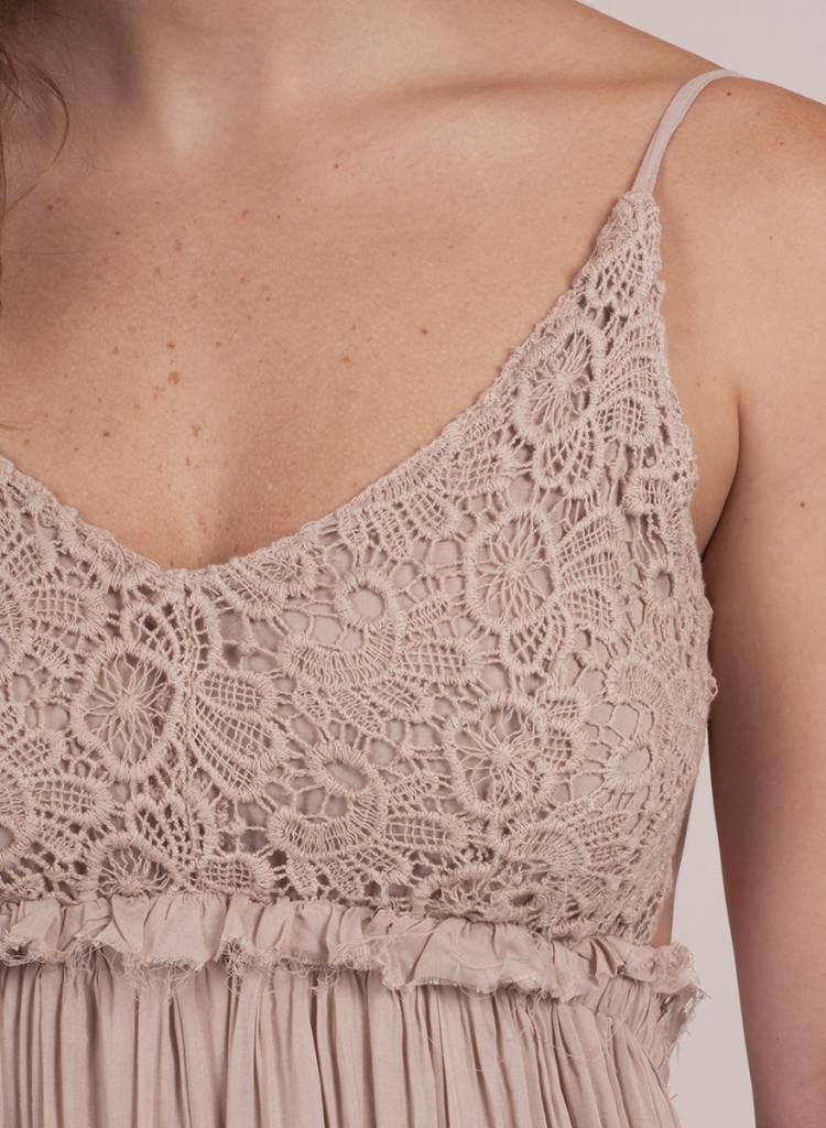 Ella Crochet Backless Dress