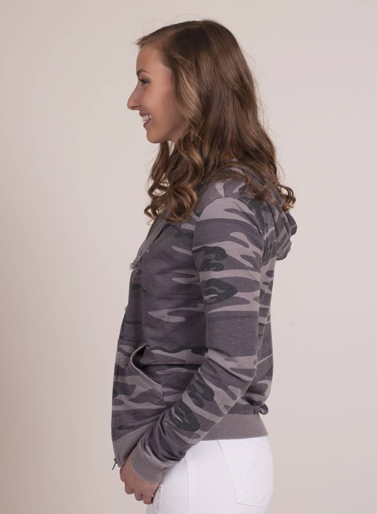 Z Supply - The Camo Zip Hoodie