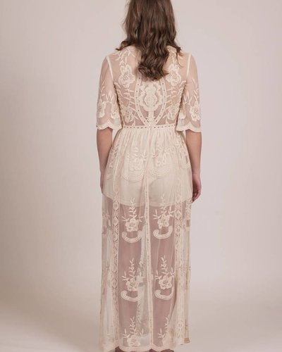 Anna Plunging Lace Maxi