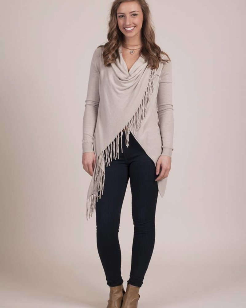 Crystal Spring Fringe Button Cardigan