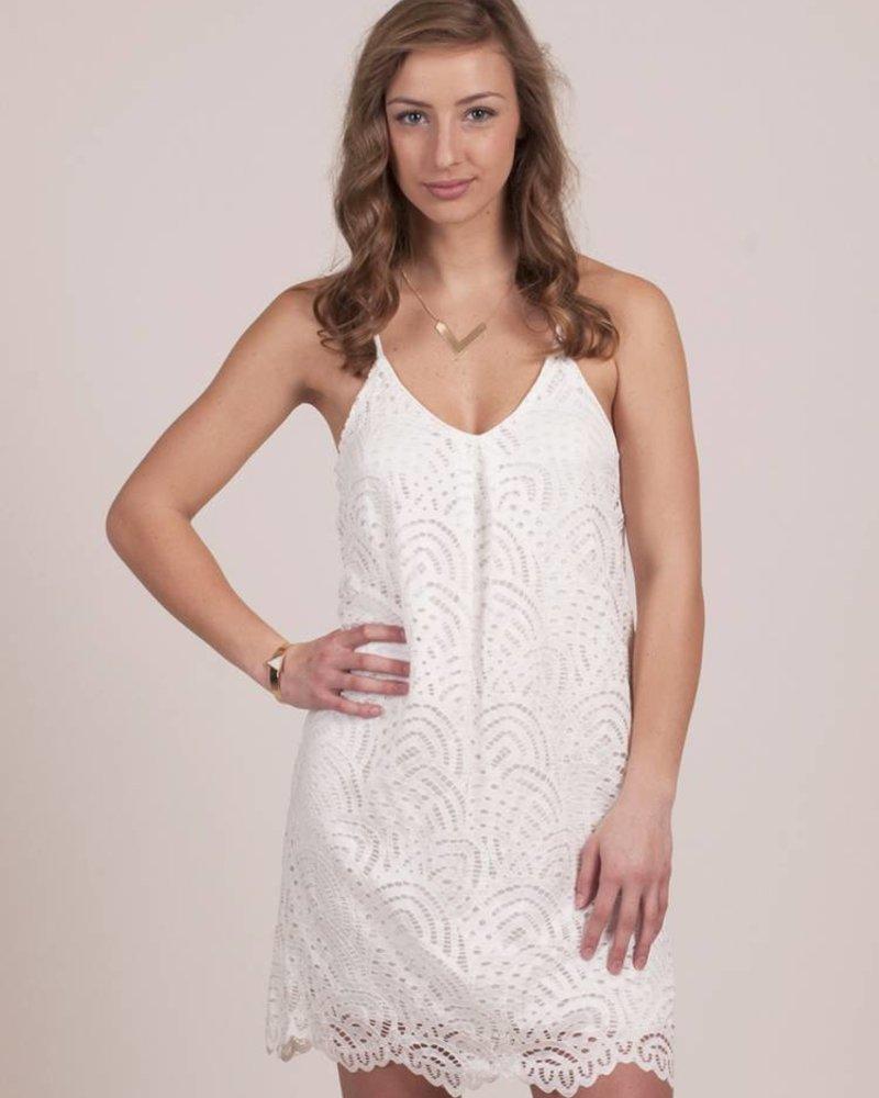 Eaden Shift Lace Slip Dress