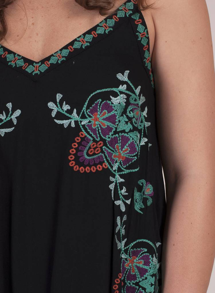 Brooke Floral Embroidered Slip Dress - Jame's Clothing Boutique