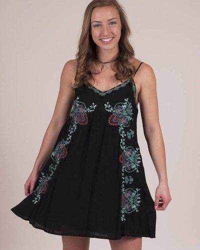 Brooke Floral Embroidered Slip Dress