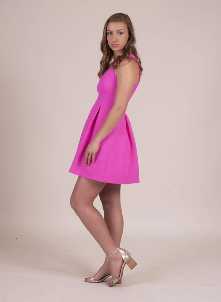 Belle Pleated Dress w/ Zip