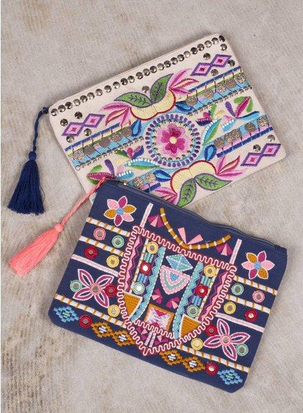 Panya Beaded & Embroidered Clutch