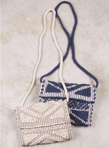 Naomi Geometric Cross Body Carpet Bag