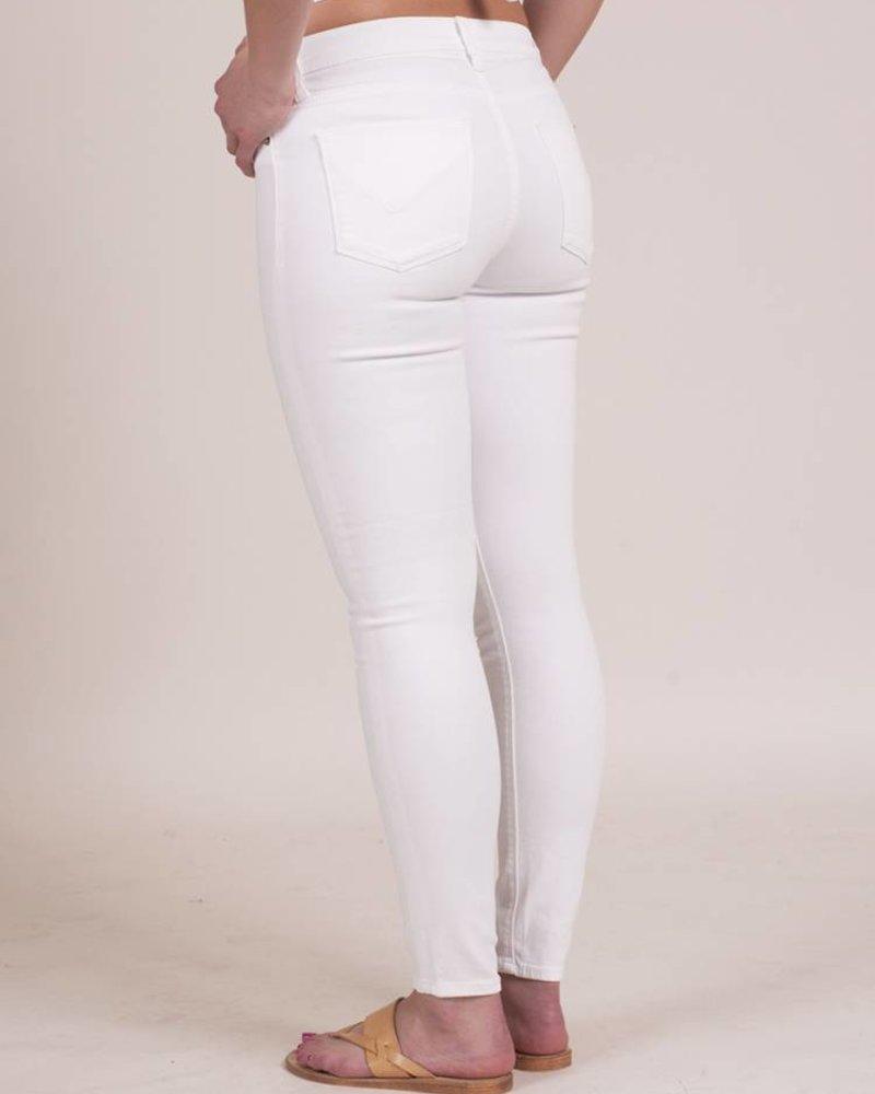 Hudson - Nico Midrise Ankle Super Skinny in White