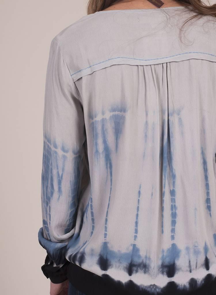 Farran L/S Split V Tie Dye Top