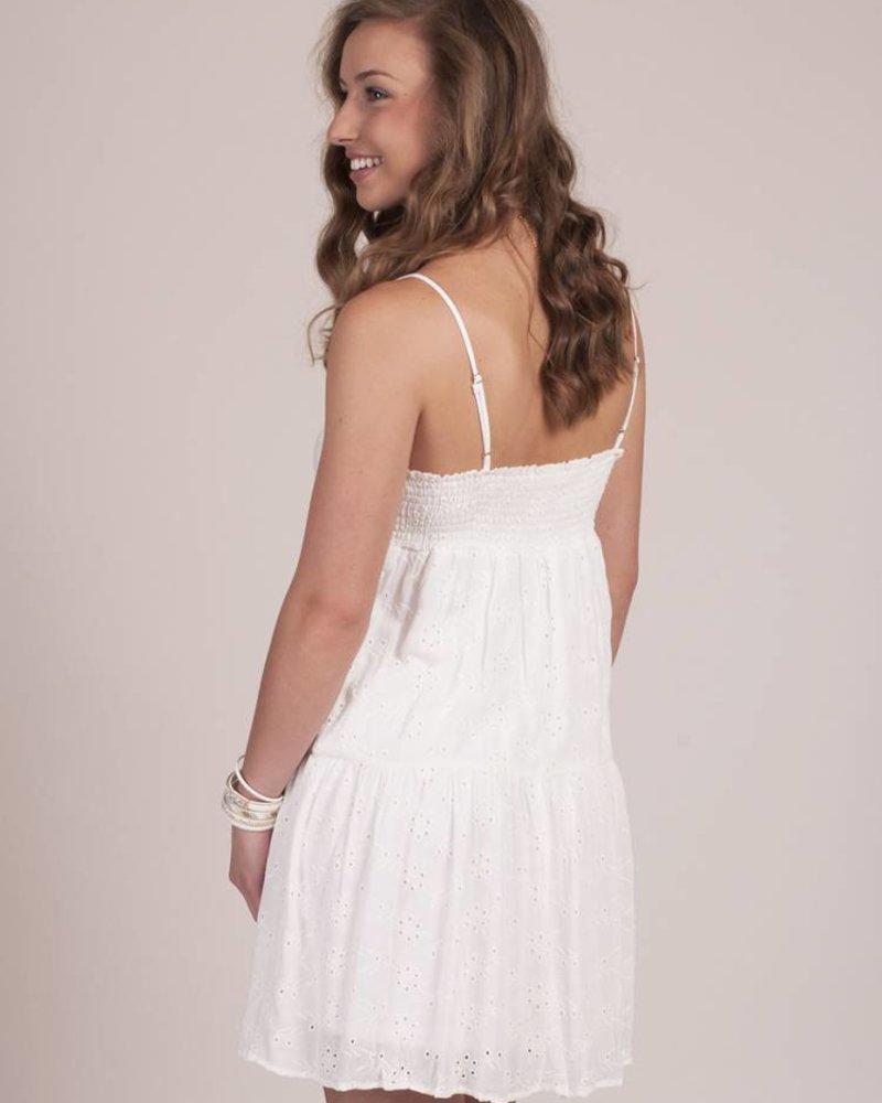 Isla S/L Tiered Babydoll Eyelet Dress