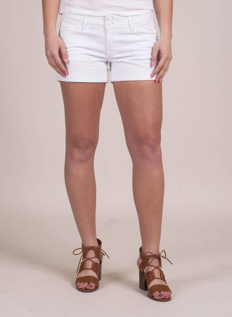 Hudson - White Croxley Mid Thigh Short