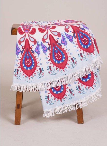 Sophia Round Towel Paisley Print
