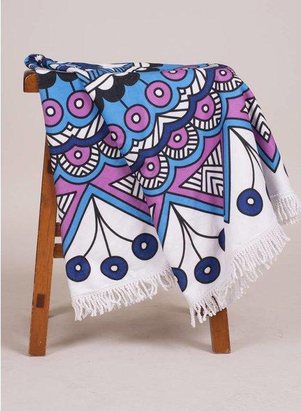 Maya Round Towel Mandala Print
