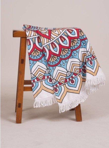 Muriel Round Towel Mandala Print