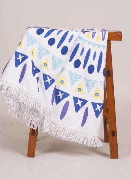 Aria Round Towel Geo Print