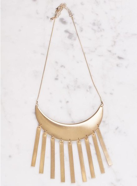 Ann Paige - Jenna Bold Fringe Necklace