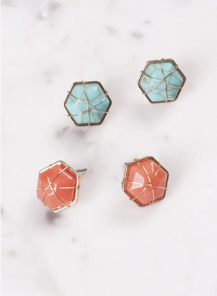 Ann Paige - Sailor Wire Stud Earring
