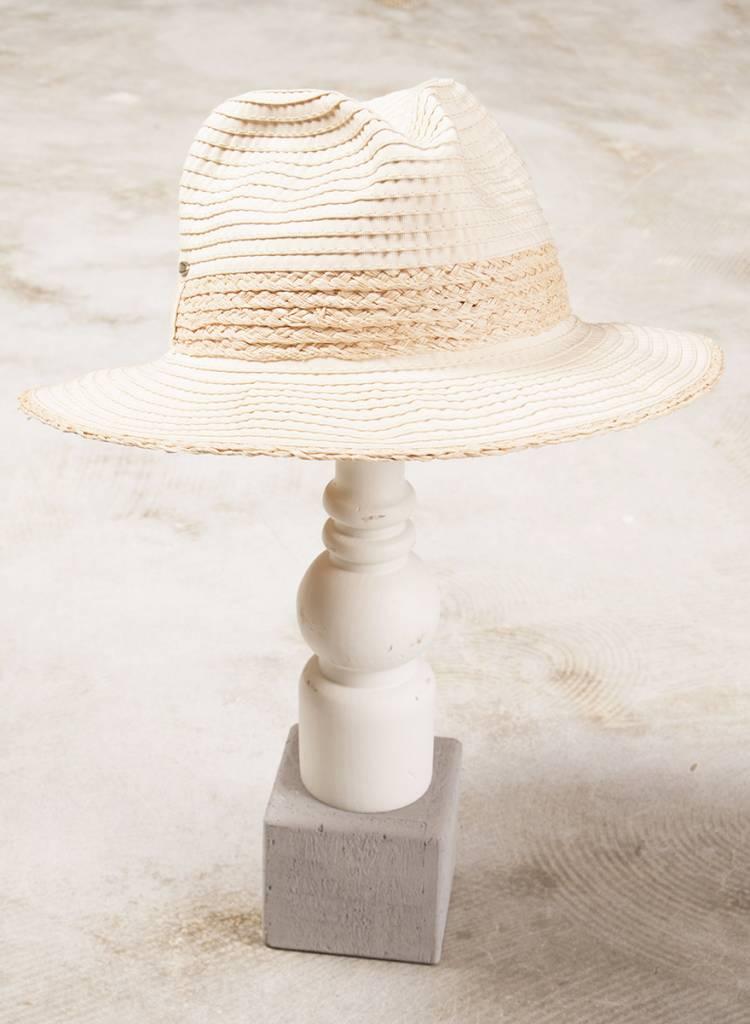 Bre Two Toned Raphia Hat