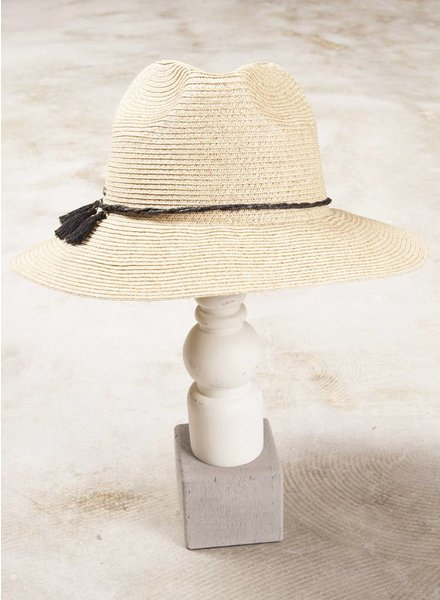 Jackie Straw Tassel Hat