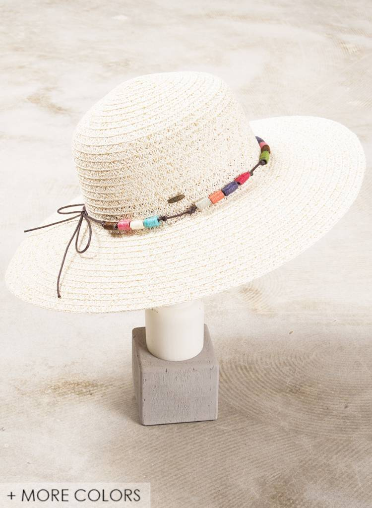 Lynn Beaded Straw Hat