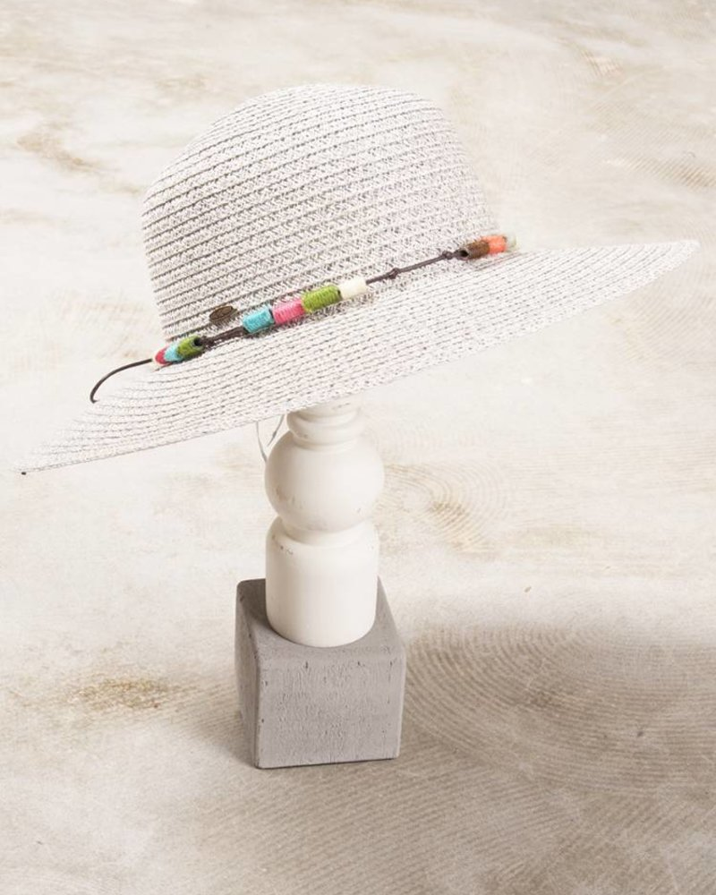 Lynn Beaded Straw Hat