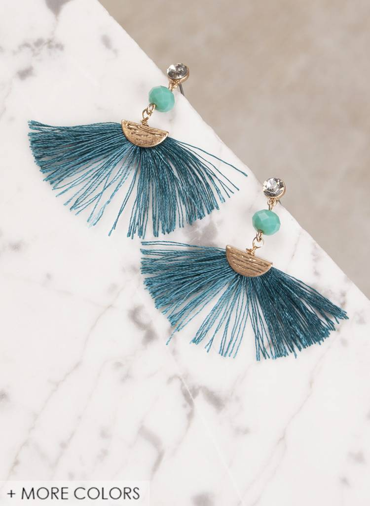 Ann Paige - Ainsley Dangle Tassel Earring