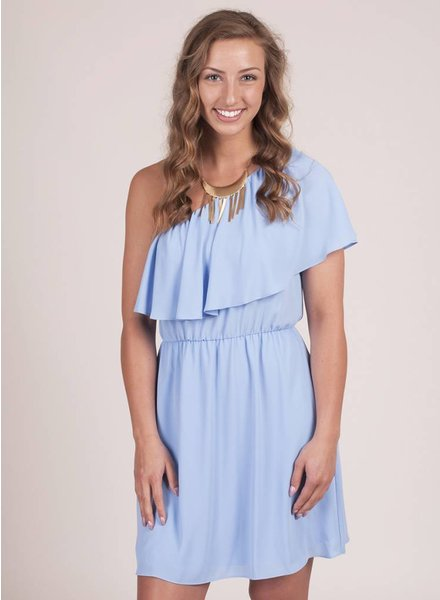 June One Shoulder Ruffle Dress