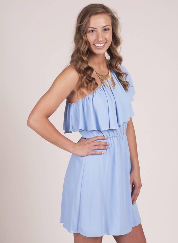 June One Shoulder Ruffle Dress