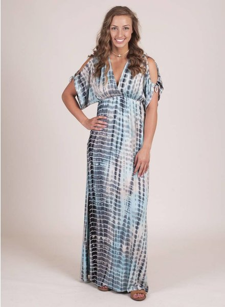Nora Cold Shoulder Tie Dye Maxi