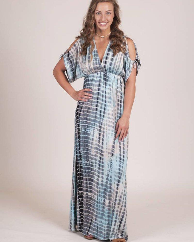 Nora Cold Shoulder Tie Dye Maxi