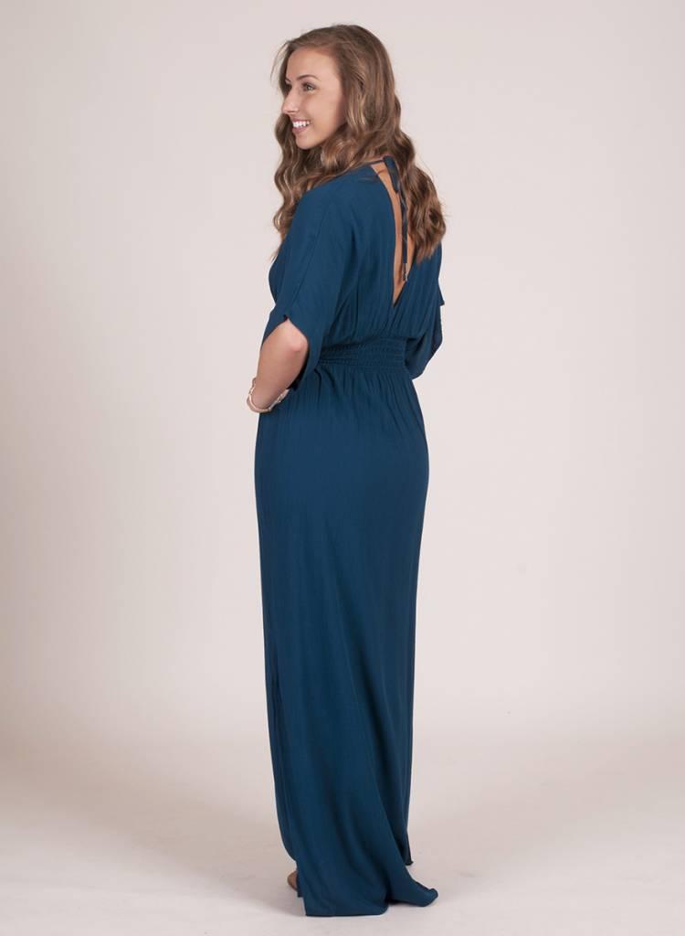 Weslyn Solid Kimono Maxi