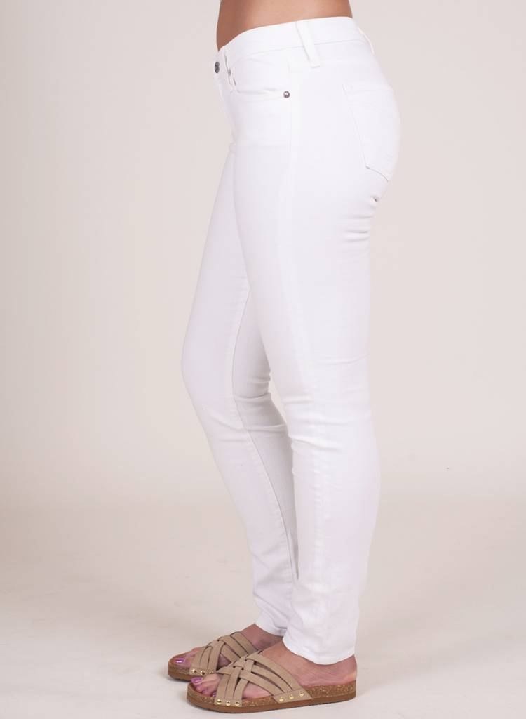 Big Star - White Alex Mid Rise Skinny
