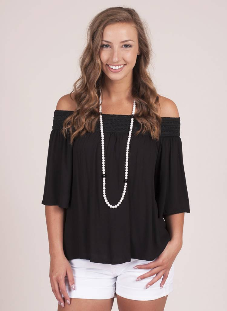 Jack by BB Dakota - Lin OTS Crepe Top