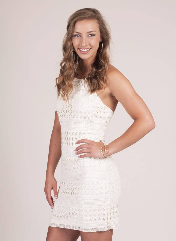 Jack by BB Dakota - Mona Crochet Halter Dress