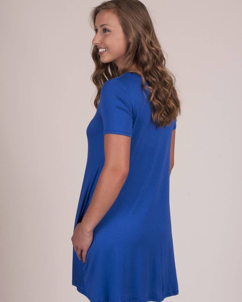 Addie S/S Cutout Front Pocket Dress