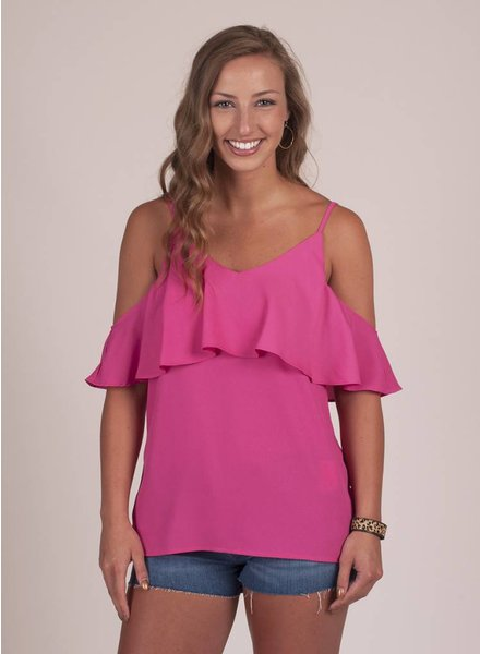 Katrina Cold Shoulder Ruffle Top